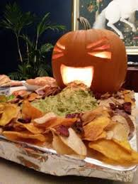Picture Of Pumpkin Throwing Up Guacamole by Pumpkin