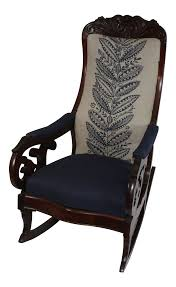 1900s Art Nouveau Antique Rocking Chair With Schumacher Upholstery Victorian Arts And Crafts Solid Oak Antique Glastonbury Chair Original Primitive Press Back Rocking 1890 How To Appraise Chairs Our Pastimes Bargain Johns Antiques And Mission Identifying Ski Country Home Replace A Leather Seat In An Everyday Wooden High Chair From 1900s Converts Into Rocking Lborough Leicestershire Gumtree Sold Style Refinished Maple American Style Childs Antiquer Rocker Reupholstery Vintage