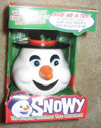 Who Sings Rockin Around The Christmas Tree by Snowy The Snowman Ornament Animatronic Wiki Fandom Powered By