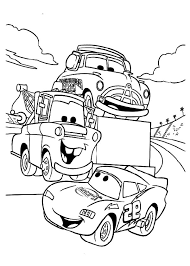 Mater Tow Say Hallo To McQueen Coloring Pages