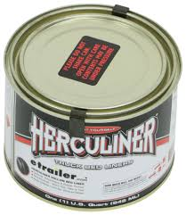 100 Herculiner Truck Bed Liner BrushOn 1 Quart Gloss Black