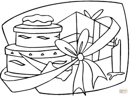 Click The Happy Birthday Gift Coloring Pages