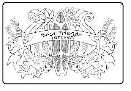 Friendship Day Friends Forever Under Water Sea Coloring Pages Of Fish