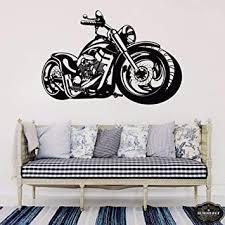 dwqlx harley motorrad kunst wandaufkleber für kinderzimmer