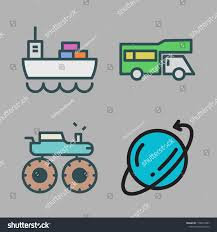 100 Motor Truck Cargo Icon Set Vector Set About Stock Vector Royalty Free