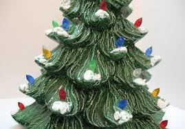 Atlantic Mold Ceramic Christmas Tree Lights by Vintage Ceramic Christmas Tree With Faux Plastic Lights Bottom