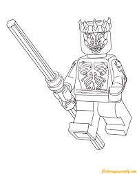 Lego Nightwing Coloring Pages Darth Maul From Wars Page Free