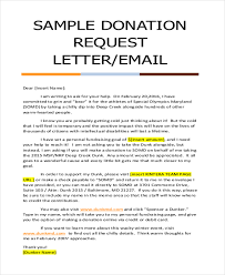 Donation Letter Sample 9 Free Documents in Doc PDF