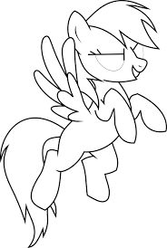 Download Coloring Pages Rainbow Dash Page Free Printable My Little Pony For