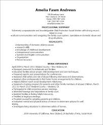Resume Templates Child Protection Social Worker