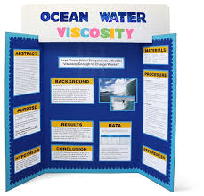 Tri Fold Presentation Board Template Science Fair Project Display With Elmers