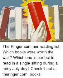Books Memes And Summer The Ringer Reading List Which Were