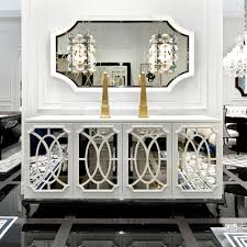 Mirrored Buffet Console Table