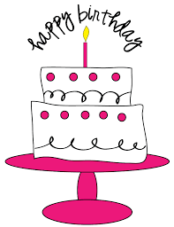 Free Birthday Cake Clipart for craft projects websites scrapbooking