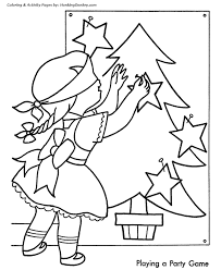 Christmas Party Coloring Sheet