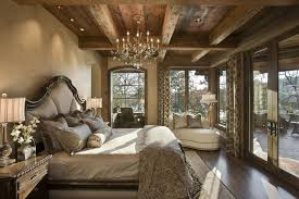 Traditional Master Bedroom With Laminate Floors Exposed Beam Mallory Hall Italian Night Stand