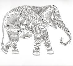 Adult Mandala Coloring Pages Elephant