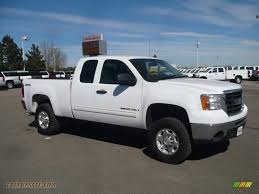 2007 GMC Sierra 2500HD SLE Extended Cab 4x4 In Summit White - 512197 ... 062013 Chevrolet Tahoegmc Yukon Preowned 2007 Gmc Sierra 1500 Single Cab Afrosycom Umopapisdn Gmc Crew Cabsle Pickup 4d 5 34 Ft Specs No End In Sight For Deluxe Pickup Truck Prices Slt Extended Onyx Black 1600 Jax Denali 4wd Summit White 680266 2019 Reinvents The Bed Video Roadshow Eg Classics 072013 Grille Style Z 1gtecx17z131406 White New Sierra On Sale Ca San