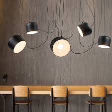 Vintage Retro Black Drum Pendant Lights Fixtures For Dining Living Room Industrial Decor Chambre Hanging Lamp Lustre Pendente In From
