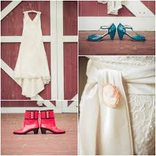 Country Wedding Dress With Shoes