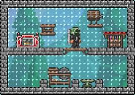 Terraria Chair And Table by Guide Crafting 101 Official Terraria Wiki