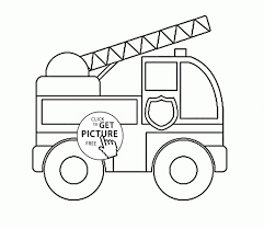 Fire Truck Coloring Pages Preschoolers | Free Coloring Pages