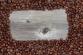 Border Of Coffee Beans On Wood Food Images Creative Market