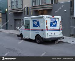 100 Usps Delivery Truck United States Postal Service Delivery Truck In The City Stock