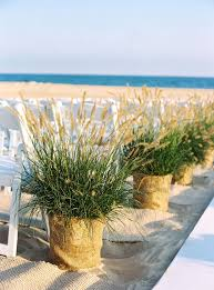 Rustic Reed Beach Wedding Aisle Decor