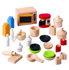 Plan Toys Dollhouse Kitchen Accessories and Tableware