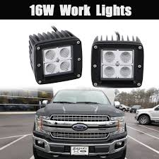 16W Flood LED Pods Work Light Bar Universal For Truck Jeep Ford F ... Safego 2pcs 4inch Offroad Led Light Bar 18w Led Work Lamp Spot Flood 2x 6inch 18w Flush Mount Lights Off Road Fog 40 Inch 200w Spotflood Combo 15800 Lumens Cree Sucool One Pack 4 Inch Square 48w 2014 Supercharged Black Jeep Wrangler Unlimited Sport With 52 500w Alinum For Truck 5 72w Roof Driving Vehicle Best Lovely 18 With Lite Ingrated Mount 81711 Trucklite 6x Light Bar Work Flood Offroad Ford Atv Decked Out Bugout Recoil Offgrid Eseries 30 Surface White Black Rigid Industries