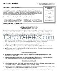 Regional Account Executive Resume Manager Objective