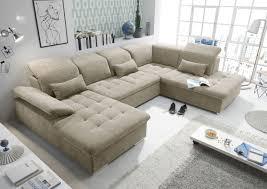 funktionale wayne sofa schlafcouch bettsofa schlafsofa sofabett wohnlandschaft ausziehbar beige ottomane rechts u form