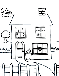 School House Coloring Page Printable Pages Haunted Sheets Online Inside White