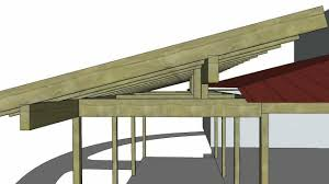 Slant Roof Shed Plans Free by Porch Roof Addition Sketchup Animation 1216 Youtube