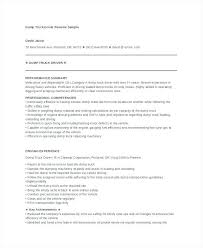Garbage Truck Driver Resume Examples Plus Dump Sample For Create Awesome