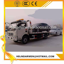 China Dongfeng DFAC Load 4ton Flatbed Wrecker Tow Truck For Sale ...