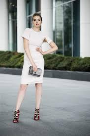 kate knee length dress with cap sleeves in crépe arzu kara
