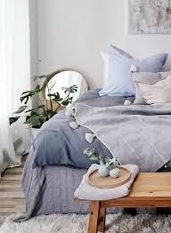ein traum schlafzimmer in blau und natur kombiniert
