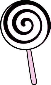 Black And White Lollipop Clipart