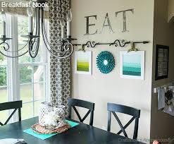 Curtains Kitchen Nook Decorating Breakfast Reveal