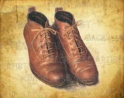 Vintage Leather Shoes Clipart Hand Drawing Lineart Illustration Instant Download PNG JPG Digi Line Art Image L917