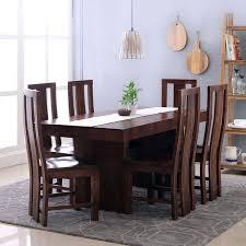Dining Table Design 6 Set Walnut Lifestyle Images Kerala