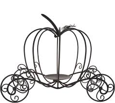 Gold Pumpkin Carriage Centerpiece by Metal Pumpkin Carriage By Valerie Page 1 U2014 Qvc Com