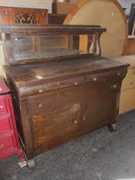 antique tiger oak sideboard buffet w mirror sideboard buffet