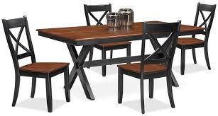 100 Cherry Table And 4 Chairs Nantucket Trestle And Side Black And Value