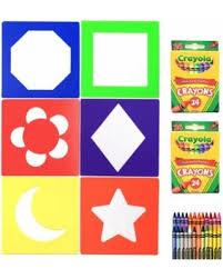 Crayola Bathtub Crayons Refill by Amazing Deal On Crayon Stencil Set 48 Crayola Non Toxic Crayons