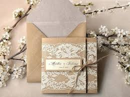 Fresh Custom Rustic Wedding Invitations Or Listing Recycling Paper Lace Invitation Pocket Fold
