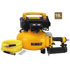 DEWALT 18 Gauge Brad Nailer and 6 Gal Heavy Duty Pancake Electric