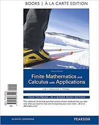 Finite Mathematics And Calculus With Applications Books A La Carte Edition 10th